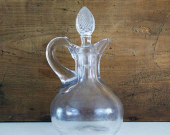 Antique Glass Cruet with cut glass stopper