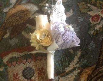 Paper Flower Corsage or Lapel Flower