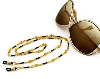 ON SALE Gold Eyeglass Chain / Gold Eyeglass Holder / Gold Eyeglass Leash / Gold Eyeglass Necklace / Gold Eyeglass Lanyard / Gold Chain for G