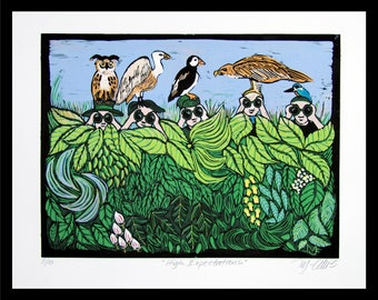 Linocuts Lovingly Made For Your Wall By Linocutheaven On Etsy