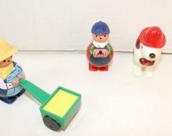 Vintage 1960? Waddle Farmer and animals toys walking