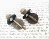 Tribal Bead Drop Charm Bone/Horn and Metal Accent Bead Relic Charm
