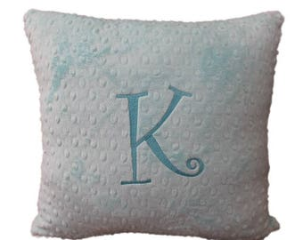 Pillow Cover, personalized pillow, pillow with initial, 16 x 16 nursery pillow cover with zipper, You pick your color and Initial