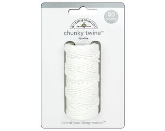 WHITE Chunky Baker's Twine - Cotton Twine - 20 yards - Favor Packaging - Wedding - Invitation supply - Baptism