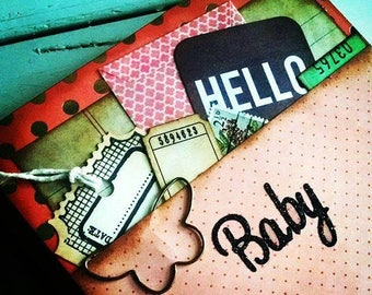 Baby Book Pregnancy Journal Notebook Smashbook Art Journal Unlined Pages
