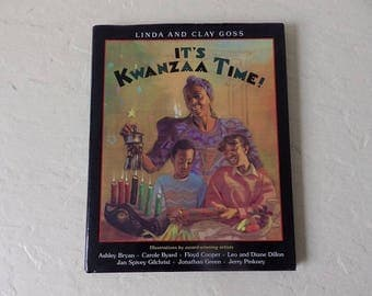 Book: IT'S KWANZAA TIME, Hardcover with Dust Jacket in very good condition. 1995