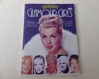 Vintage Movie Magazine, Glamour Girls, Screen Greats Vol. Vll, 1987. Lana Turner, Betty Grable, Ava Gardner and More