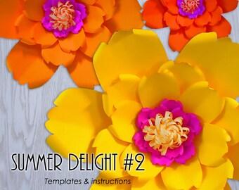 DIY Paper Flower, Paper Flower Template, PDF Paper Flower, Giant Paper Flower Templates, Paper Flower Tutorial, Paper Flower Instructions