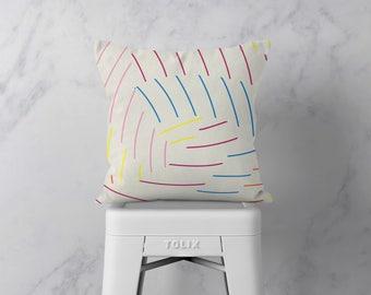 Cushion Cover - Throw Pillow - Pillows - Decorative Pillow - Striped Cushion - Nursery Decor - Housewarming Gift - Home Decor - 18 x 18