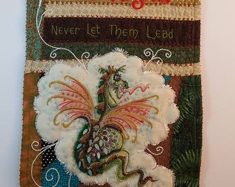 Dancing With Dragons - art quilt