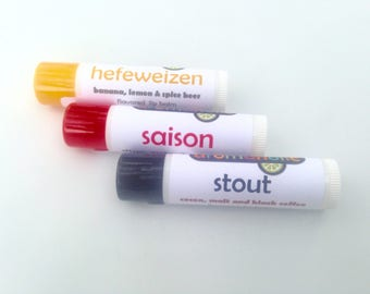 Any 3 cocktail-flavored lip balms from Aromaholic - Mojito lip balm, gin flavored lip balm, Riesling lip balm and more - beer lip balms