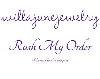 Rush Order Fee - Ships non-personalized Items in 24 hours, Made to Order Rings in 48 hours - Please read description