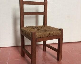 Dollshouse miniature chair, Miniature furniture 1:12 one inch scale, Dollshouse country chair, dollshouse furniture