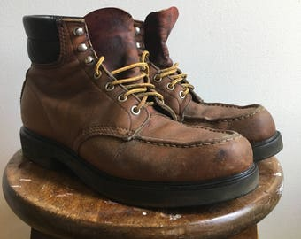 Vintage Red Wing Leather Work Boots Mens 9 1/2 USA Made