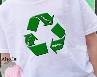 FLASH SALE Reduce Reuse Recycle Shirt I care about Recycling Rrr save the planet