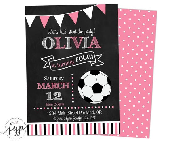 like this item - Girl Birthday Party Invitations