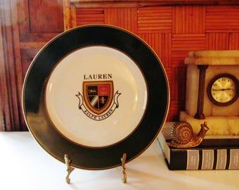 Vintage Ralph Lauren Plate, Decorative Preppy Coat of Arms Plate, Knockhill