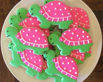 One Dozen Turtle Sugar Cookies
