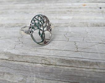 Tree of life, family tree, sterling silver