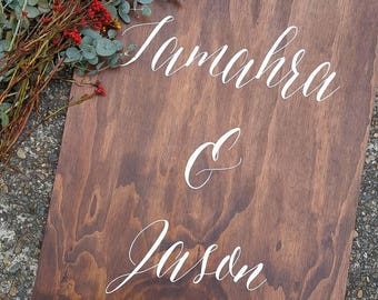Bespoke Welcome to our Wedding Signage, Rustic Wedding Decor, Custom Wooden Sign