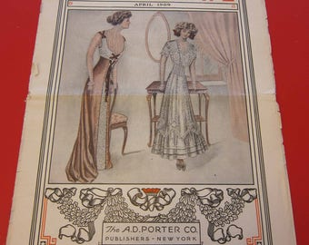 Magazine, Antique, Vintage, Fashions, Ads and Lots More: 1909, The Housewife