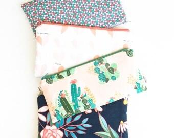 Cactus Zipper Pouch, Pencil Pouch Purse, Pencil Case, Desert and Floral, School Supplies Bag, Women, Best Friend, Co-Worker, Accessories