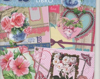 34616 - Book 3d decoupage flowers to make 20 cards