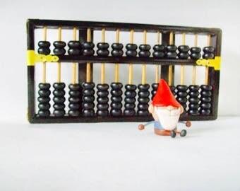 Folk Art Wooden Gold Abacus