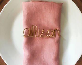 Custom Place Cards, Wire Name, Escort Cards