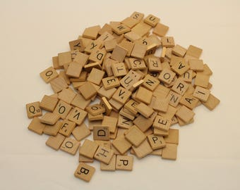 175 Scrabble Game Tiles for Crafts