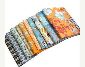SALE 10% Off - SUMMERLOVE Fat Quarter Bundle - Art Gallery Fabric - Blue Crush Palette  - 9 Pcs