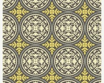 SALE 10% Off - Joel Dewberry - AVIARY 2 - Scrollwork in Granite JD44 - Free Spirit Fabrics - By the Yard
