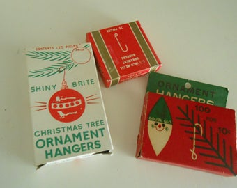 3 packs vintage ornament hangers with boxes one Shiny Brite