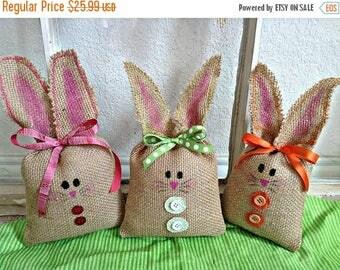 Easter Bunny, Burlap Easter Bunny, Easter Decoration, Easter Basket, Easter Decor, Easter,  Easter Gift, Easter Basket Filler