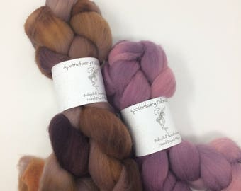 Acorns in November- Babydoll Southdown wool, wool for needle felting, next to the skin soft