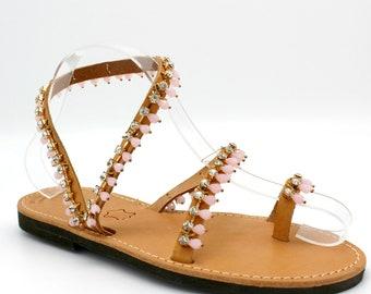Greek sandals white pearl sandals pearl sandals elegant shoes bridal sandals  wedding sandals  artisanal sandals  handmade sandals