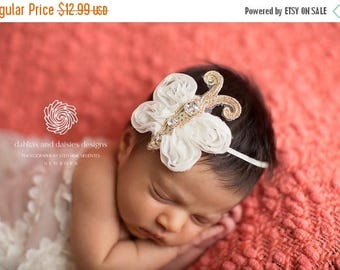 10% SALE Baby headband, newborn headband, adult headband, child headband and photography prop The Sparkly Butterfly headband