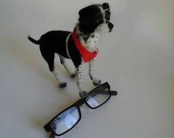 Needle felted Dog/Needle felted miniature/Needle Felted animal/OOAK/ Custom Miniature Sculpture of your dog