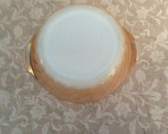 Vintage, Fire King, Peach Luster, Small Dish, Bowl, Anchor Hocking, Lusterware