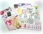 Fashion Planner Kit, Paper Embellishment Kit, Inspiration Kit, Embellishment Assortment for Scrapbook Mini Albums Tags Journals Paper Crafts