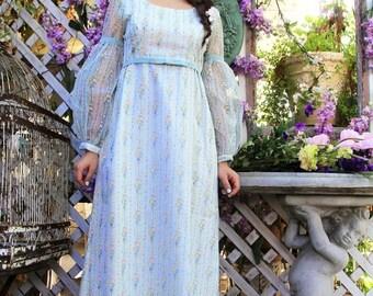 MEMORIAL SALE 1960s Maxi Dress Embossed ROSES Velvet Garden Party Maxi Gown // Vintage Dresses by TatiTati Style on Etsy