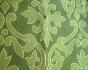 Green Elegant Floral  - Cotton- Fabric-31 inches