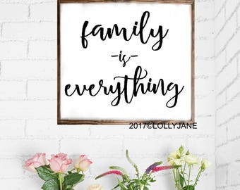 family is everything wood sign | rustic sign | wood sign | home decor