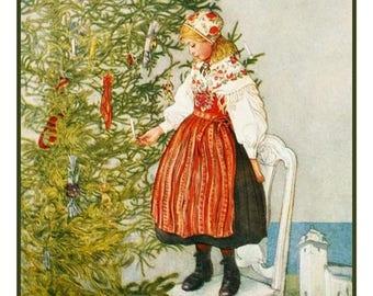 GREAT SALE Digital DOWNLOAD Christmas Confetti Carl Larsson Counted Cross Stitch Chart / Pattern