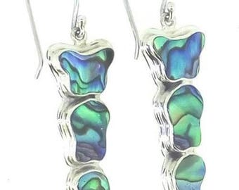 Abalone Paua Shell 925 Sterling Silver Dangle Drop Earrings Jewelry With Soul   E1211