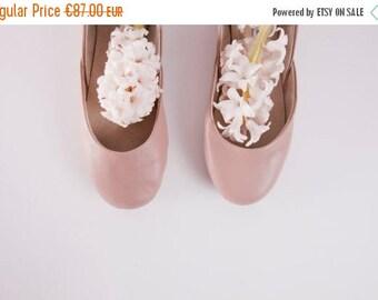 Summer Sale Dark Nude | Mauve Ballet Flats | Ballerina Shoes | Slip Ons | Leather Flats | Bridal Ballerina Flats | Mauve | Last Pair 40 | Re