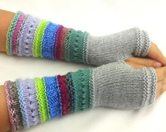 Fingerless gloves - Arm warmers - Womens Fingerless - Long Fingerless Mittens - Wrist warmers - Hand warmers |