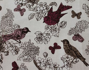 "FABRIC - 2 Yards - Thomas Paul for Duralee ""PERCH"" Print in Lilac"