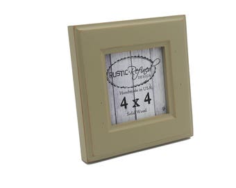 4x4 Moab picture frame - Olive - Instagram, Home Decor, Wedding Favors, Wall Decor, Solid Wood, Handmade