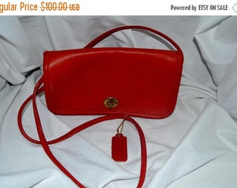 Sizzling Summer Sale Coach Bag~ Coach~ Leather Bag~Red Bonnie Cashin  Bag ~Coach 6531~New York City